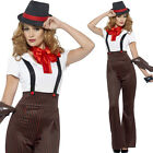 Black and Red Gangster Girl - 20s Costume Female Gangsta Outfit 1920s Sexy TV