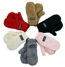 Infant Toddler Mittens Fleece Lined Knitted Baby Mitten