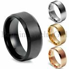 Kyпить 8MM Stainless Steel Men Women Wedding Engagement Anniversary Ring Band Size 5-15 на еВаy.соm