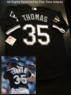 NEW Frank Thomas Chicago White Sox Classic 35 Black Road Mens Throwback Jersey