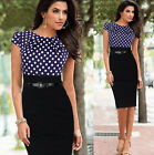 Women Office Ladies Pencil Dress Business Work Slim Bodycon Party Evening Dress