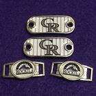 2 ~ Colorado Rockies MLB Paracord Charms Oval or Mini Dog Tag shoelace charms on Ebay