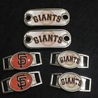 2 ~San Francisco Giants MLB Paracord Charms Oval or Mini Dog Tag shoelace charms on Ebay