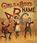 Girls And Boys Name - CANVAS OR PRINT WALL ART