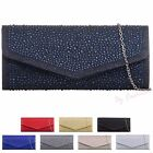 Glitter Diamante Sparkle Wedding Ladies Party Prom Evening Clutch Hand Bag Purse