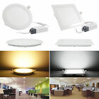 NEW Dimmable 6/9/12/15/18/21W Recessed Ceiling Panel LED Light Lamp Bulb #GF