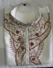 White Men Kurta Designer Indian  Free shawl Payjama Ethnic Traditional