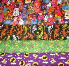 HALLOWEEN CLEARANCE #2  FABRICS Sold INDIVIDUALLY NOT AS  GROUP By the HALF YARD