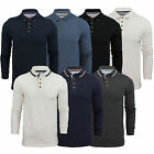 Mens Polo Shirt Brave Soul Long Sleeve Collared Top In Various Styles