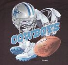 Vintage 1996 NFL Dallas COWBOYS Pro Player T-Shirt BLACK NWT NOS New Old Stock