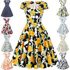 Summer Women Dress Vintage 50'S Retro Evening Party Prom Swing Pinup Floral S~XL