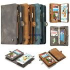 Removable Genuine Leather Case Flip Zipper Wallet Cover For iPhone 6+ 6s Plus