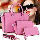 New Women 3PCS Leather Handbag Set Shoulder Tote Vintage Satchel Fashion Bags BE