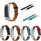 Replacement Genuine Leather Watch Wrist Band Strap For Fitbit Alta Tracker BLACK