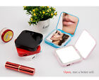 3500mah Compact Power Bank 2-in-1 USB Phone Charger & LED Lighted Makeup Mirror