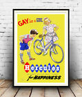 Gay for a girl : Vintage cycling advertising , Reproduction poster, Wall art.