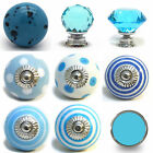 Large Selection Of Blue Ceramic Door Knobs Handle Cabinet Cupboard Drawer Pull