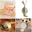 Women Crystal Pumpkin Car Owl Vintage Necklace Charm Pendant Long Chain vhk