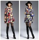 Fashion Lady Women Oversize Long Sleeve MidCalf  Knitting Loose Tops Skirt Dress