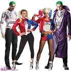 SUICIDE SQUAD MENS THE JOKER LADIES HARLEY QUINN DC ADULT FANCY DRESS COSTUME