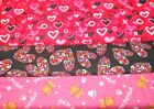 VALENTINES #4  FABRICS Sold INDIVIDUALLY NOT AS A GROUP By the HALF YARD