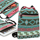 9.7 inch Tablet Protective Drawstring Tribal Print Backpack Case Cover BGPS8