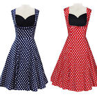 2016 Polka dot Swing Girl 50s 60s pinup Vintage Style EVENING Dresses