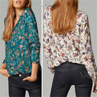 Hot Women's Loose Long Sleeve V-neck Cotton Casual Blouse Shirt Tops Tee Fashion