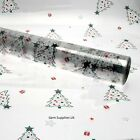 Christmas Trees Cellophane Roll - Christmas Wrapping Gift Hamper Clear Film Wrap