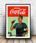 Drink coca cola : Reproduction vintage  advert , poster, Wall art. £3.99  on eBay
