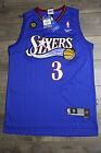 Allen Iverson #3 Philadelphia 76ers Blue Throwback Swingman Men Jersey Classics on eBay