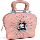 New Betty Boop® Leather Handbag Satchel Totes Shoulder Bag Purse w/ Rhinestone $31.99 USD on eBay