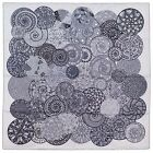 NEW Authentic Hermes Silk Scarf REVES D'ESCARGOTS White Grey