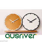 New High Quality Fashion Wood Wooden 3D Wall Pendulum clock Hanging Silent Sweep