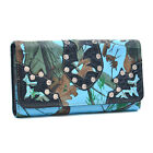 New Fashion Faux Leather Tri-fold Card Holder Color Wallet Purse with Rhinestone