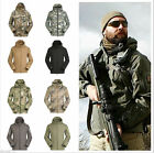 Men's Outdoor Military Jacket Waterproof Hooded Camping Hiking Hoodies Coat Tops