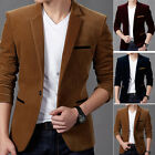 Mens Casual Slim Fit Formal One Button Suit Blazer Dress Party Coat Jacket Tops
