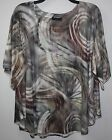 Nally and Millie Round Neck Oversize Top S/M Multi-color - NWT