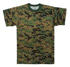 Mens Digital Camouflage T-Shirt, Woodland Digital Camo by Rothco S- 4X
