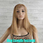 100% Indian Remy Virgin Human Hair Full Lace Wigs #27 Honey Blonde Straight Wig
