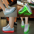 Unisex LED Lights USB Rechargeable Luminous Sportswears Casual Sneakers