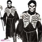 Mens Crypt Keeper Skeleton Grim Reaper Zombie Halloween Fancy Dress Costume