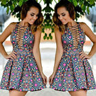 SEXY WOMEN'S  SUMMER SLEEVELESS PARTY DRESS EVENING COCKTAIL CASUAL MINI DRESS