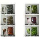 "12 PCS 4"" CAMO DYED Right Wing Feathers Archery Arrow Fletching PICK COLOR Arrow"