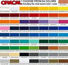 5 ft ROLLS by 12 in You Pick from 64 Colors Oracal 651 Vinyl craft hobby signs