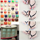 24pcs Many Color Homemade Toes Nail Manicure & Pedicure  Acrylic  Foot Tips Art