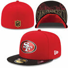 SAN FRANCISCO 49ERS NFL NEW ERA 59FIFTY ON STAGE DRAFT DAY FITTED HAT CAP