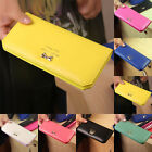 FASHION Women's Long Card Holder Case Leather Clutch Wallet Purse Handbag