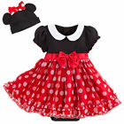 Disney Store Deluxe Minnie Mouse Baby Costume & Headband 3 6 9 12 18 24 Months