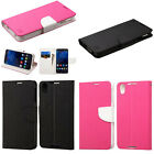 Leather Flip Wallet ID Card Slots Cover Protector Phone Case For Alcatel Idol 4S
